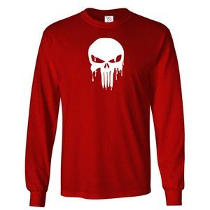 Youth Kids The Punisher Skull T-Shirt Long Sleeve